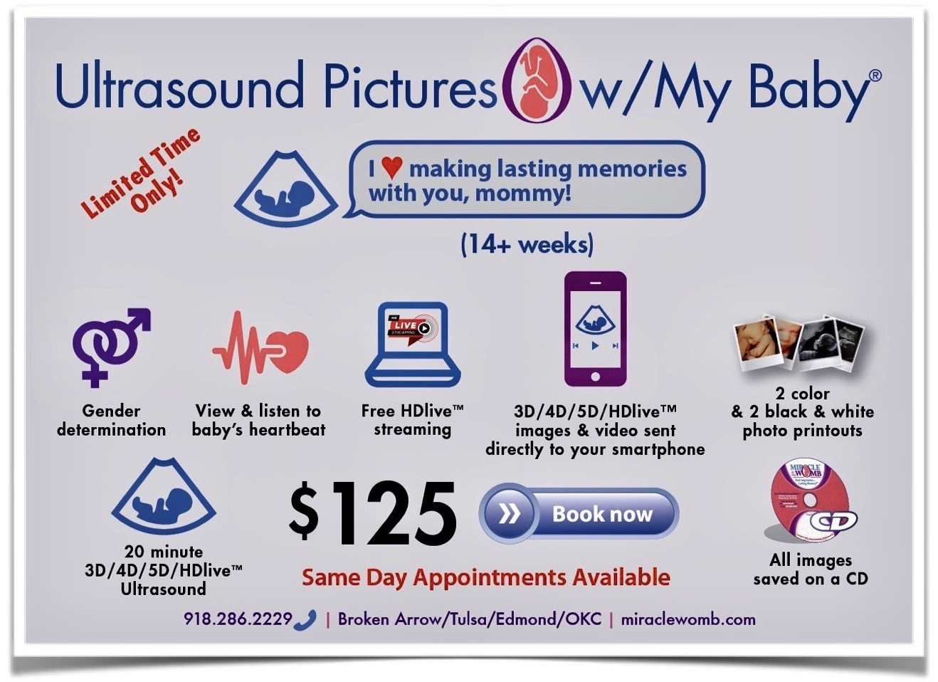 $125 3d 4d 5d HDlive pregnancy ultrasound pictures with my baby
